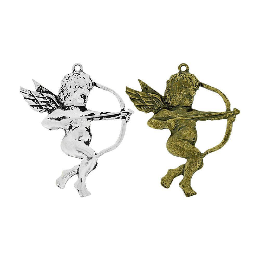 Pingente Cupido de Metal - 64mm  - Nathalia Bijoux®