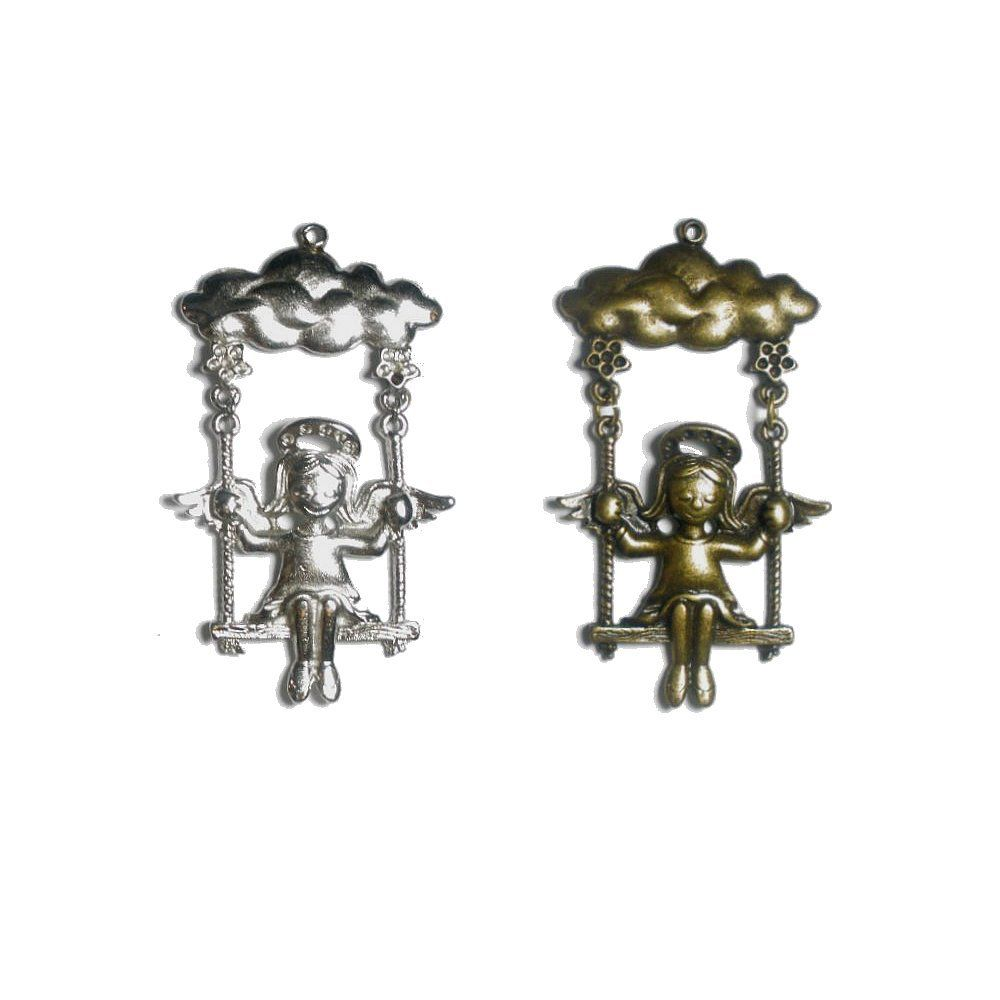 Pingente Anjinha de Metal - 74mm  - Nathalia Bijoux®