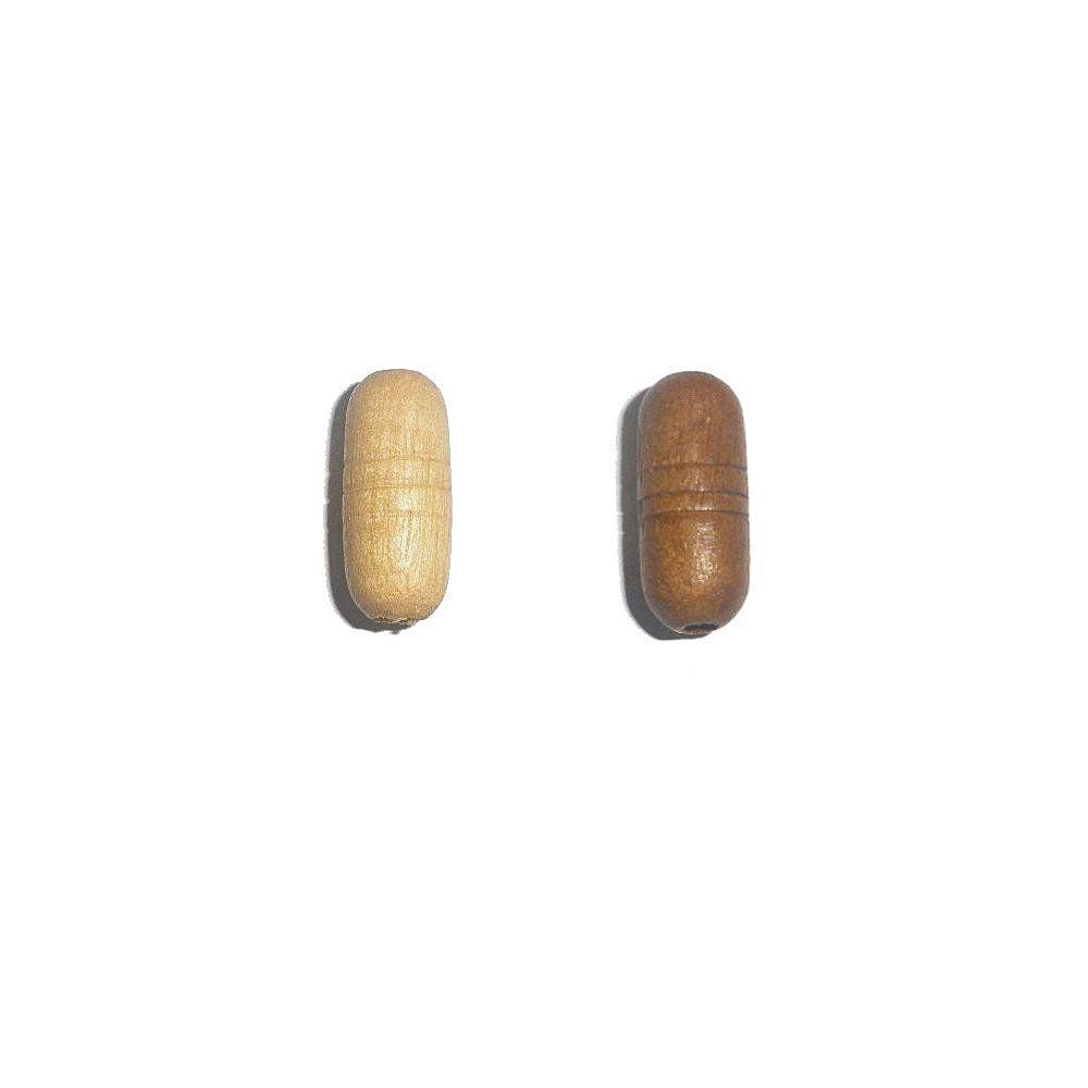Entremeio de Madeira - 19mm  - Nathalia Bijoux®