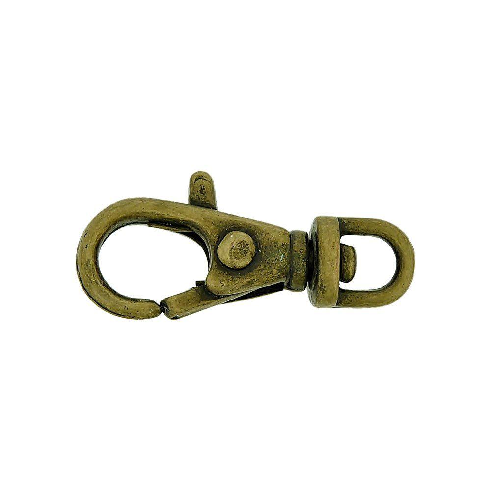 Fecho Mosquetão - Ouro Velho - 33mm - 10pçs  - Nathalia Bijoux®