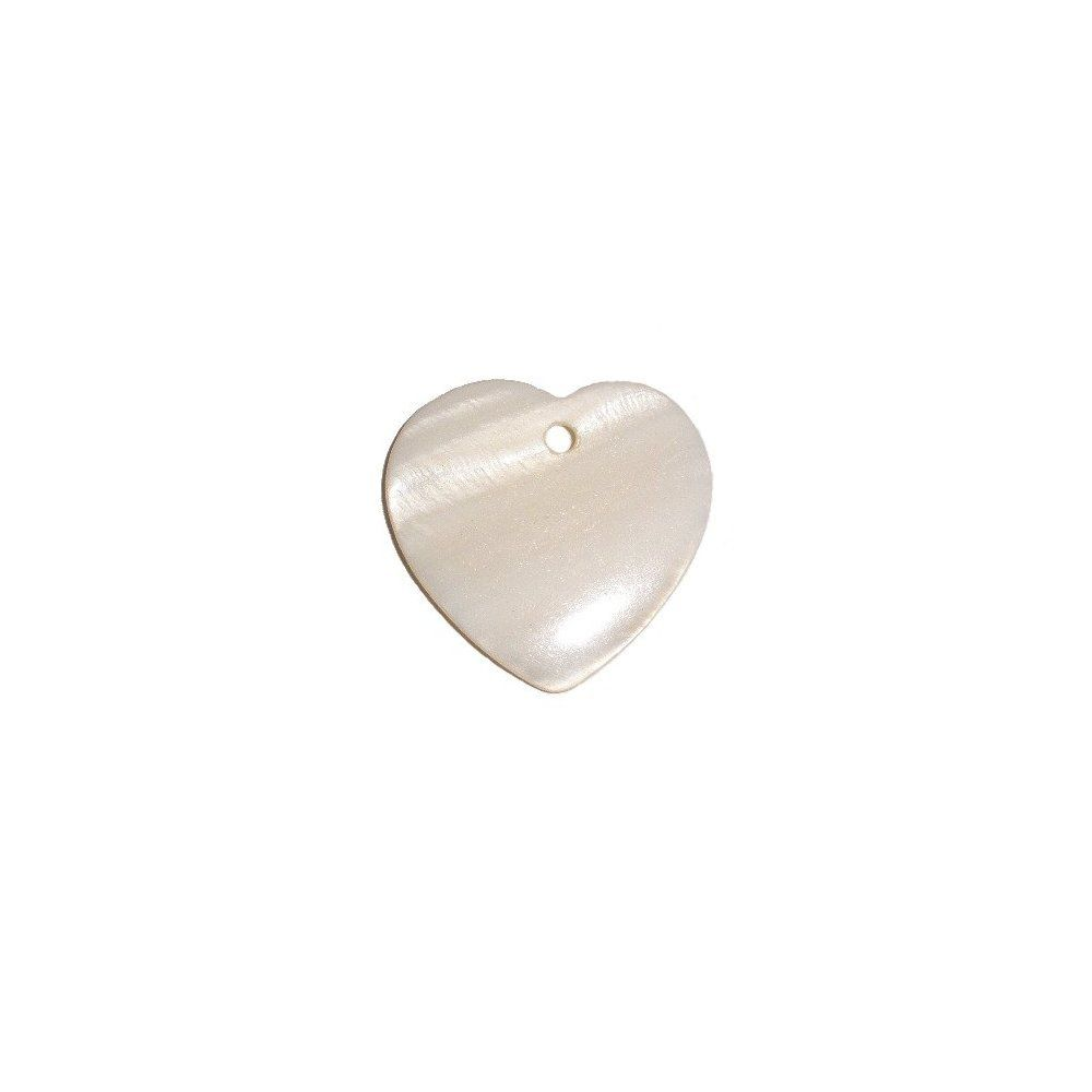 Pingente Coração de Madrepérola - 32mm  - Nathalia Bijoux®
