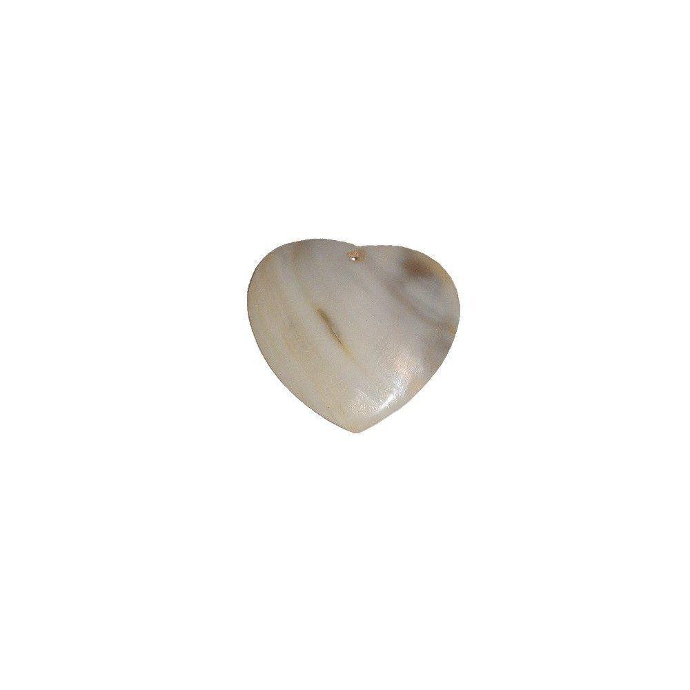Pingente Coração de Madrepérola - 36mm  - Nathalia Bijoux®