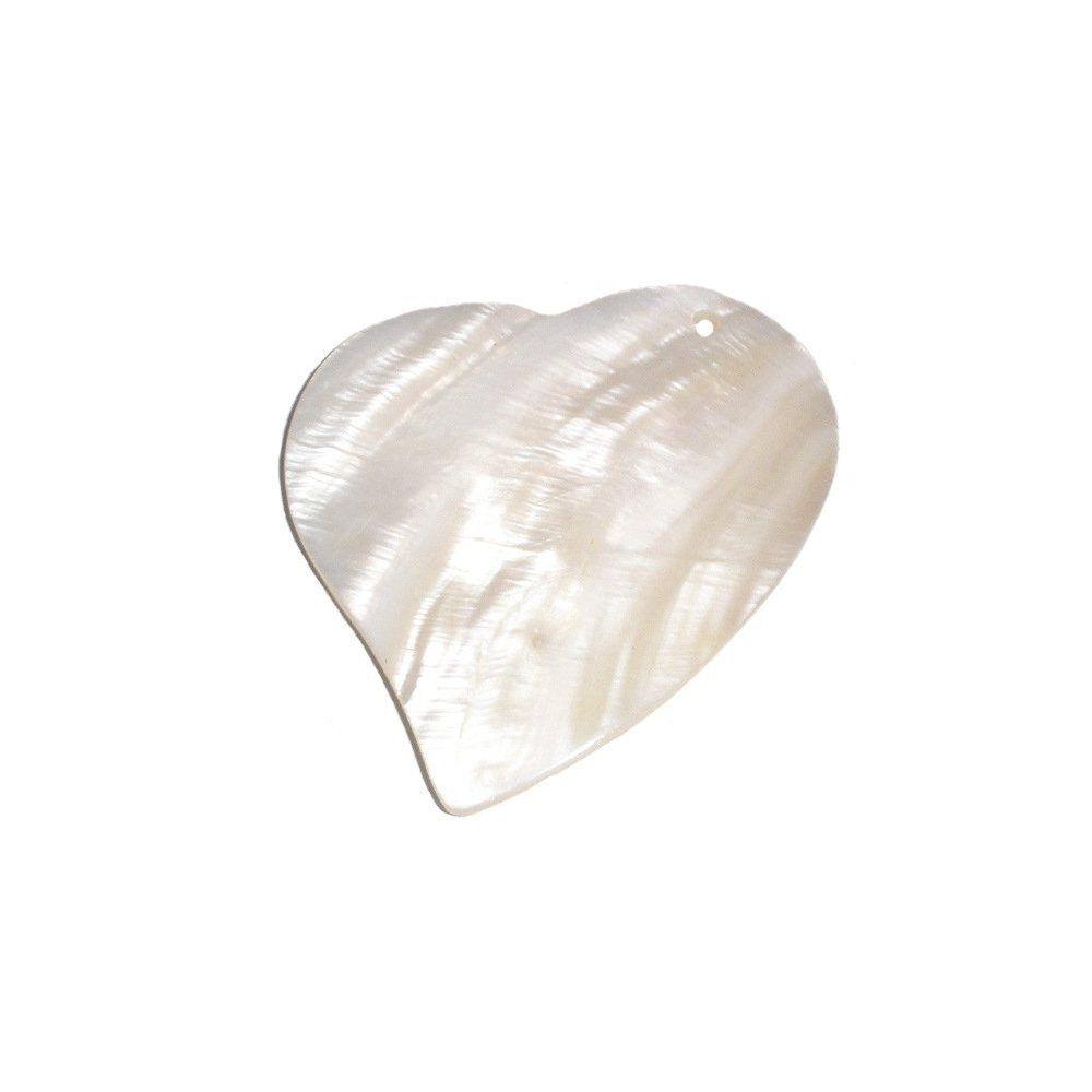 Pingente Coração de Madrepérola - 55mm  - Nathalia Bijoux®