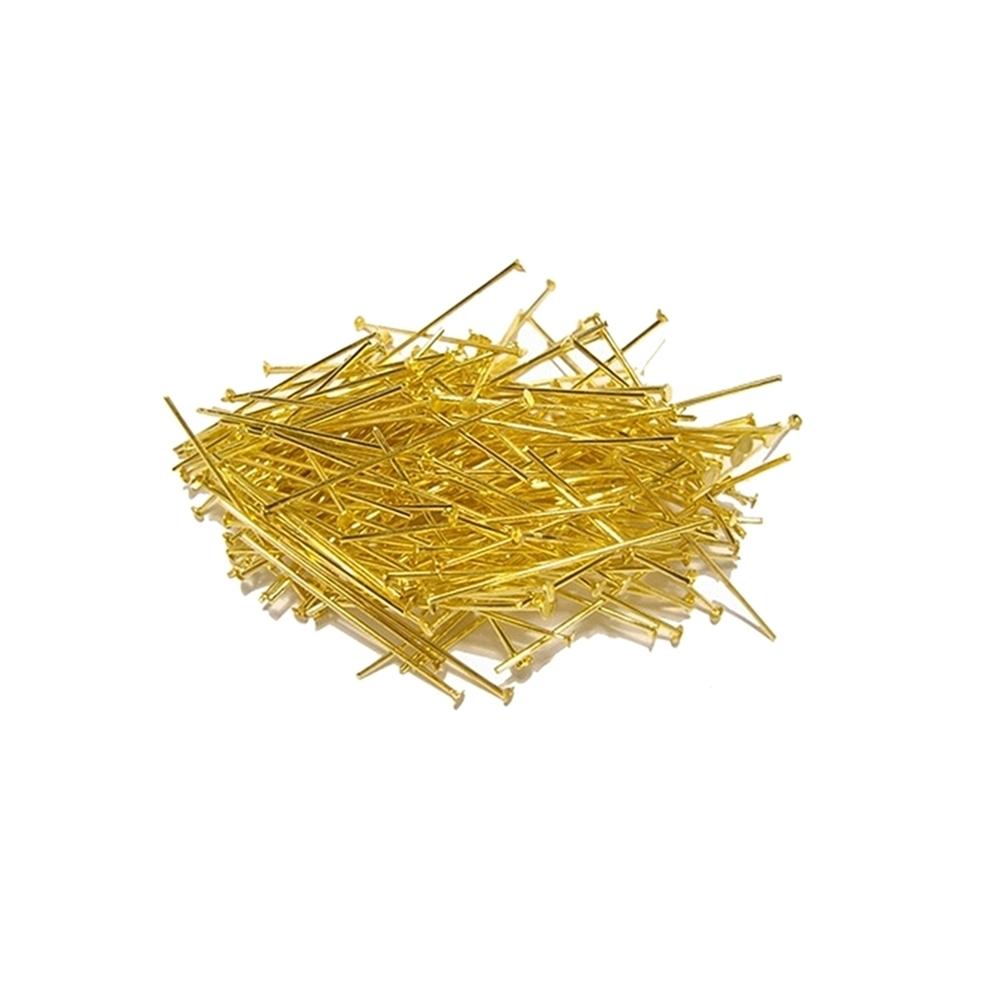 Alfinete com Cabeça Dourado - 20mm - 25g  - Nathalia Bijoux®