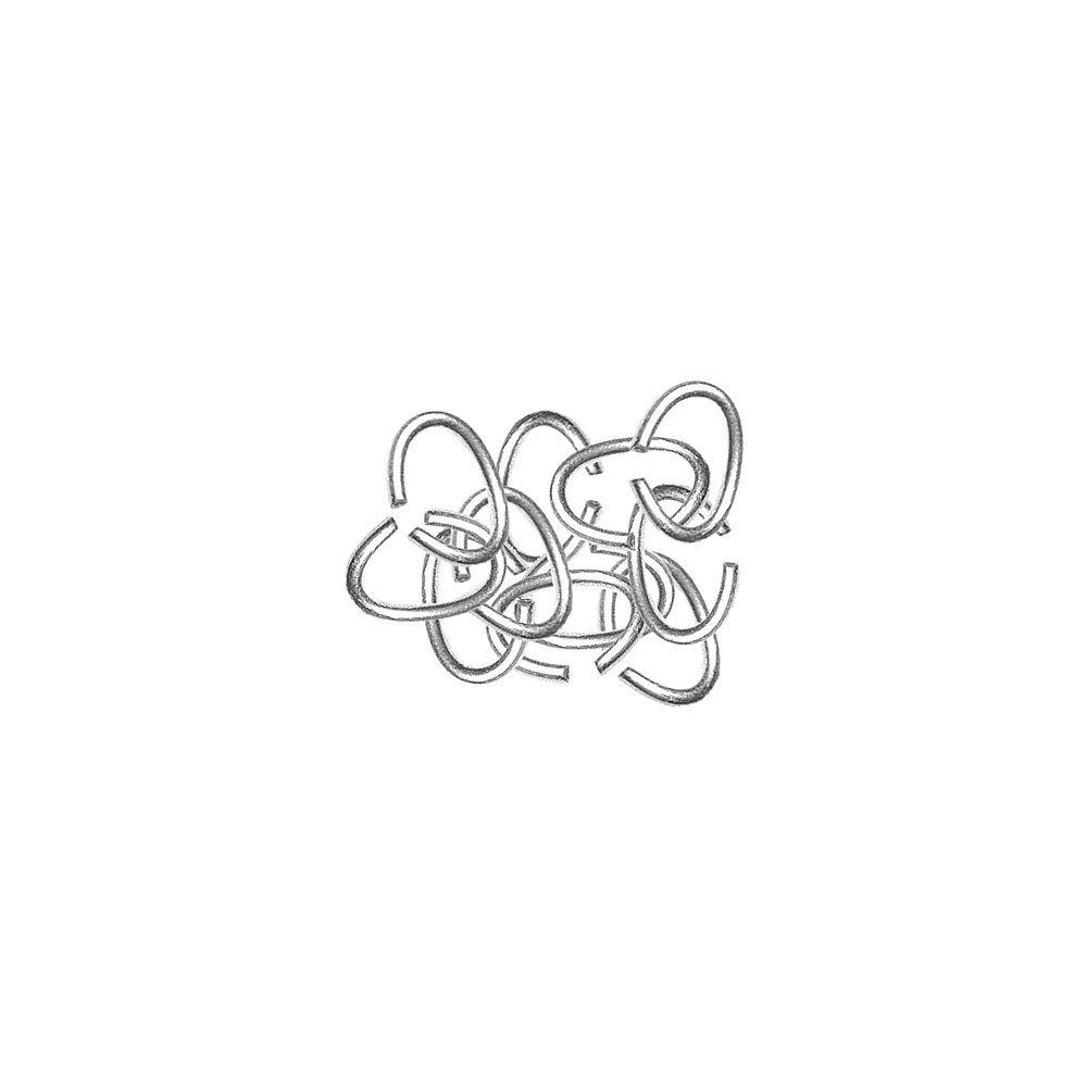 Argola Oval de Metal Níquel - 7mm - 25g  - Nathalia Bijoux®