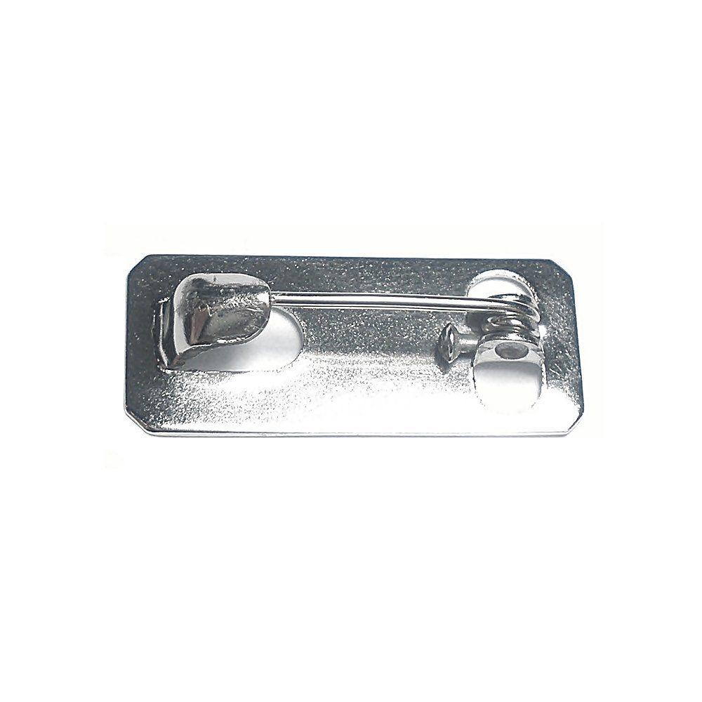 Base para Broche Níquel - 23mm - 10pçs  - Nathalia Bijoux®