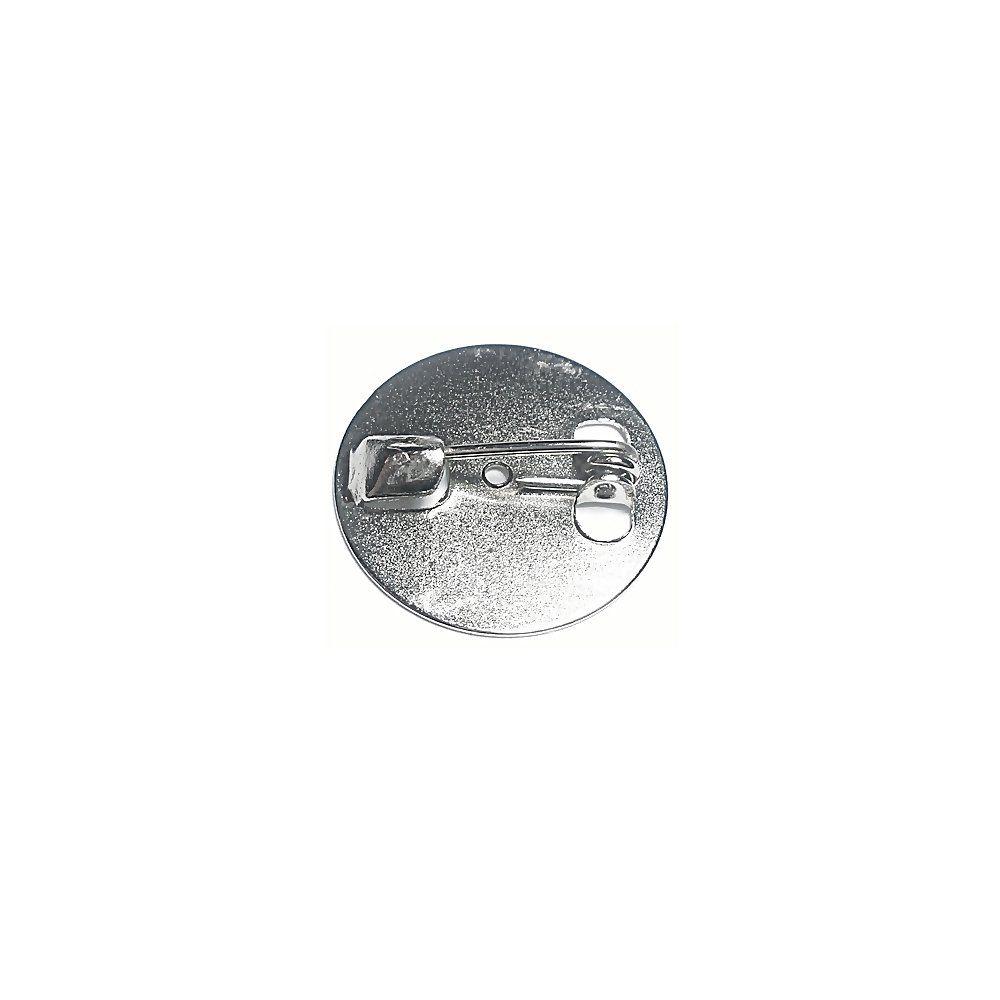 Base para Broche Níquel - 19mm - 30pçs  - Nathalia Bijoux®