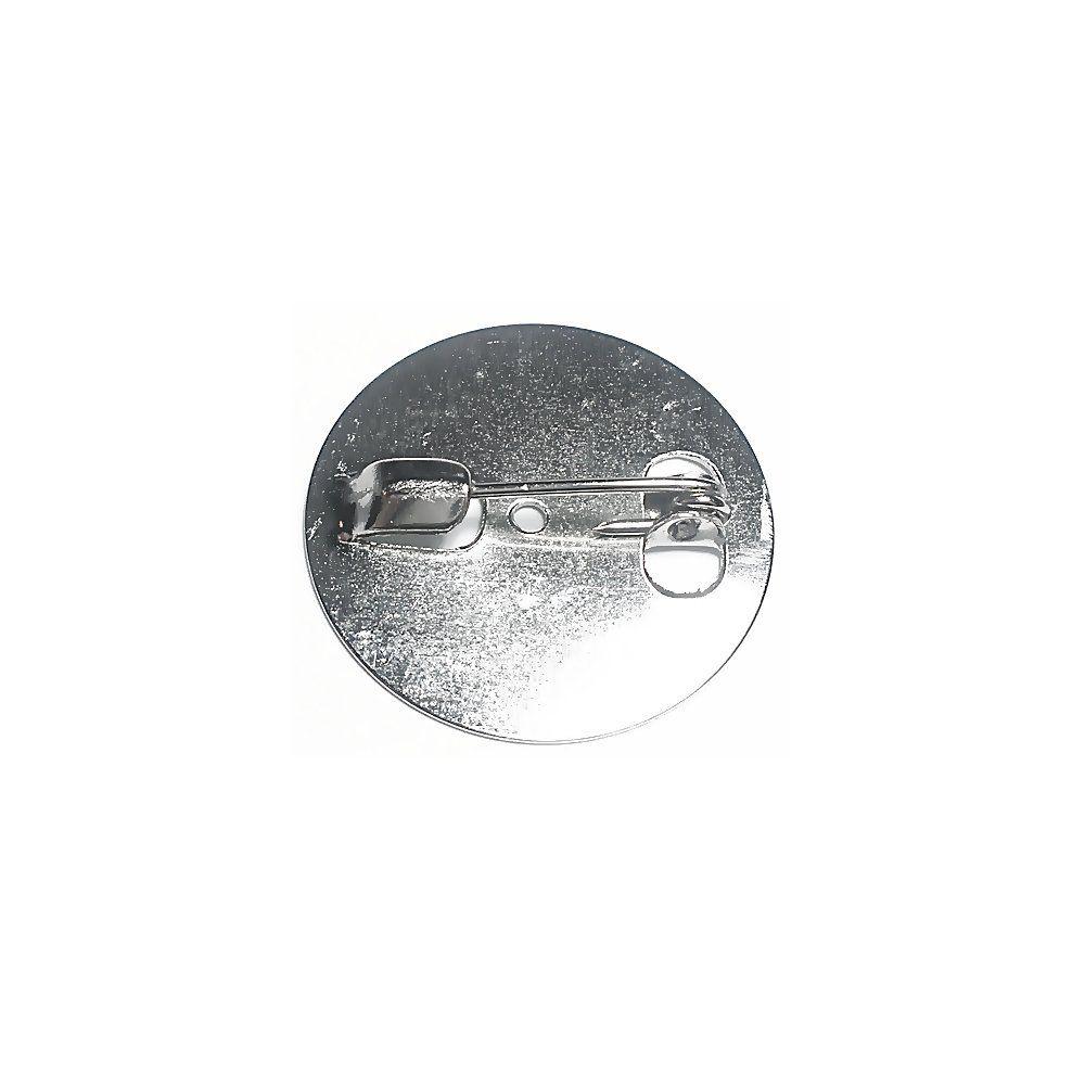 Base para Broche Níquel - 24mm - 10pçs  - Nathalia Bijoux®
