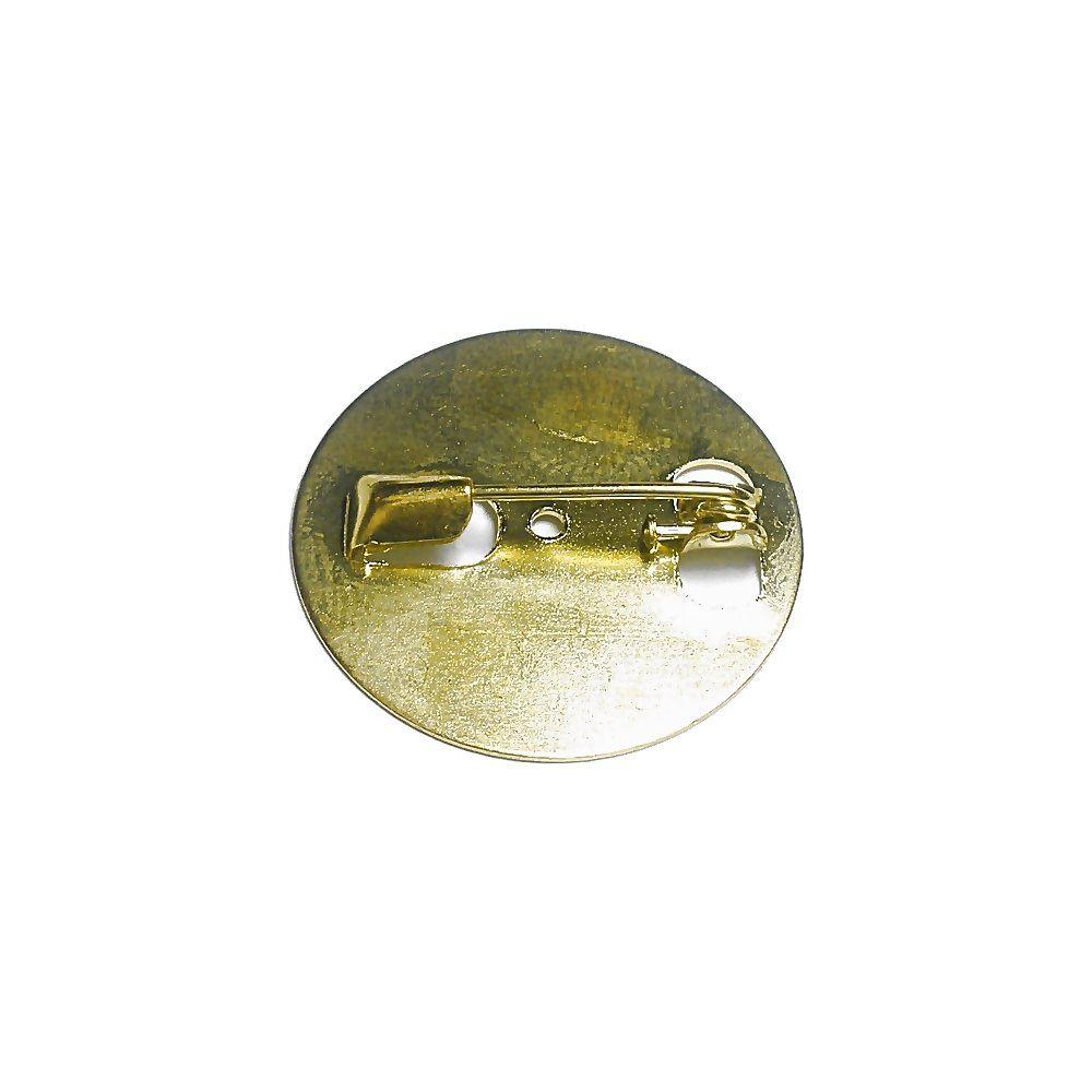 Base para Broche Dourada - 24mm - 10pçs  - Nathalia Bijoux®