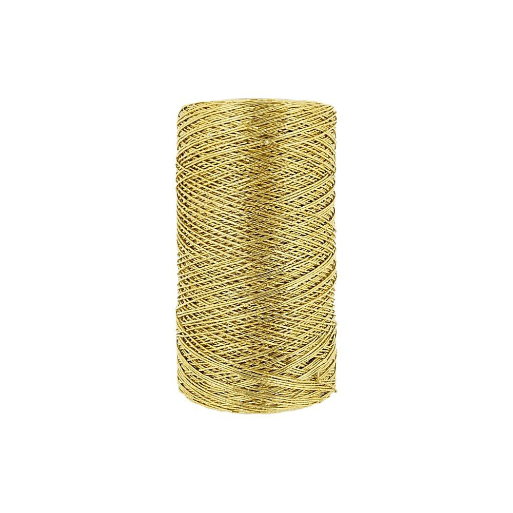 Cordão Metalizado - Dourado - 1mm - 250m  - Nathalia Bijoux®