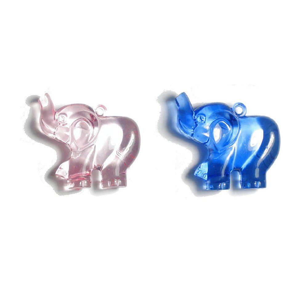 Pingente Elefante de Acrílico - 48mm  - Nathalia Bijoux®