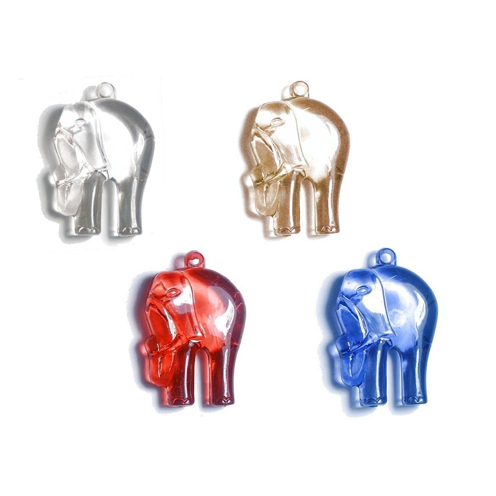 Pingente Elefante de Acrílico - 50mm  - Nathalia Bijoux®
