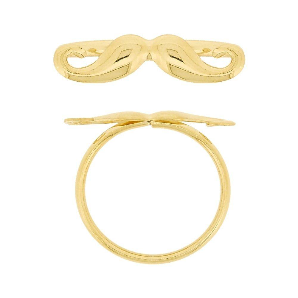 Anel Bigode Dourado - 24mm  - Nathalia Bijoux®