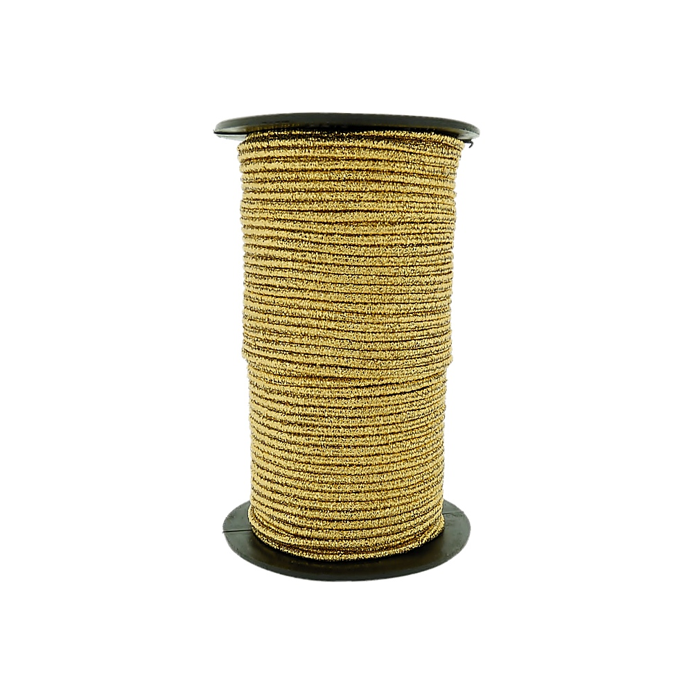 Cordão Elástico Texturizado - 2mm - 50m  - Nathalia Bijoux®