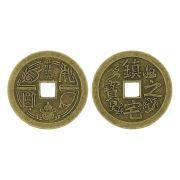 Pingente Moeda Oriental de Metal - 36mm
