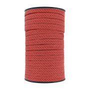 Cordão Encerado Trançado - Vermelho - 12mm - 50m