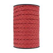 Cordão Encerado Trançado - Vermelho - 15mm - 50m
