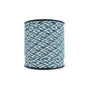Cordão Encerado Trançado - Azul com Branco - 6mm - 50m
