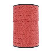Cordão Encerado Trançado - Vermelho - 16mm - 50m