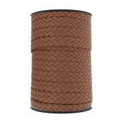 Cordão Encerado Trançado - Conhaque - 16mm - 50m