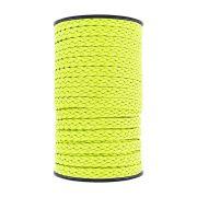 Cordão Encerado Trançado - Amarelo Neon - 10mm - 50m