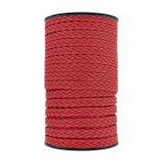 Cordão Encerado Trançado - Vermelho - 10mm - 50m