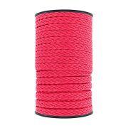 Cordão Encerado Trançado - Rosa Neon - 10mm - 50m