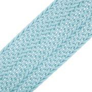 Cordão Encerado Trançado - Azul - 50mm - 10m
