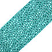 Cordão Encerado Trançado - Azul Piscina - 50mm - 10m