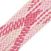 Cordão Encerado Trançado - Rosa Mesclado - 50mm - 10m