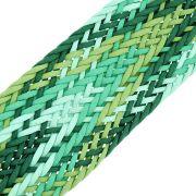 Cordão Encerado Trançado - Verde Mesclado - 50mm - 10m