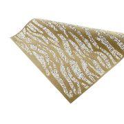 Manta de Strass com Pelúcia - Cristal com Dourado e Camel - Premiatto® - Peça Inteira