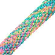 Cordão de Seda Acetinado Trançado - Color Mix Neon - 30mm - 25m
