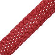 Cordão Encerado Trançado - Vermelho - 26mm - 25m