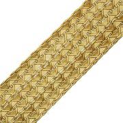 Cordão Metalizado Trançado - Ouro - 43mm - 10m