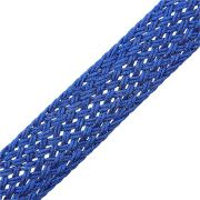 Cordão de Lurex Trançado - Azul Royal - 25mm - 25m