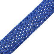 Cordão de Lurex Trançado - Azul Royal - 25mm - 25m