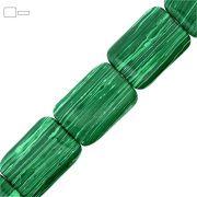 Fio de Pastilhas Retangulares de Malaquita - 35mm - 40cm