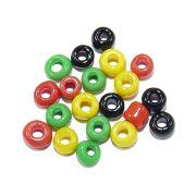 Miçanga 6/0 - Amarelo, Verde e Vermelho - 50g