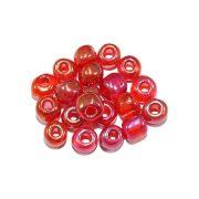 Miçanga 6/0 - Vermelho Irisado - 50g