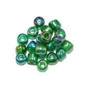 Miçanga 6/0 - Verde Esmeralda Irisado - 50g