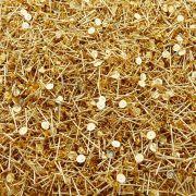 Base para Brinco - Dourado - 4mm - 100pçs