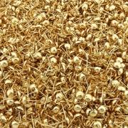Base para Brinco com 1 Saída - Dourado - 6mm - 100pçs