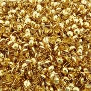 Base para Brinco com 1 Saída - Dourado - 8mm - 100pçs