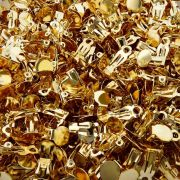 Base para Brinco Pressão - Dourado - 10mm - 100pçs