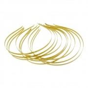 Base para Tiara de Metal - Dourado - 14cm - 10pçs