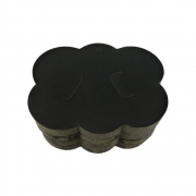 Cartela Nuvem - Preto - 9.5cmx7.5cm - 100pçs