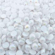 Chaton Meia Pérola Redondo - ABS - Branco Boreal - 12mm - 500g
