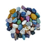 Conta de Pedra Natural Rolada Sem Furo - Variado - 250g