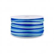 Cordão de Seda Acetinado - Color Mix Azul - 2mm - 50m